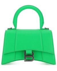 Balenciaga Hourglass Handbag Xs - Womens - Green