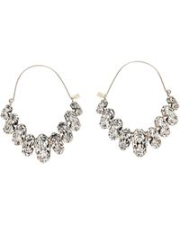 Isabel Marant Crystal Embellished Earrings - Metallic