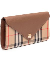 Burberry - Vintage Check Continental Wallet - Lyst