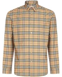 Burberry Small Scale Check Shirt - Natural