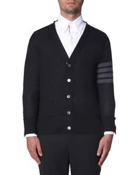 Thom Browne 4-bar V-neck Cardigan - Black