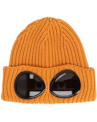 C.P. Company Logo Goggle Beanie - Orange