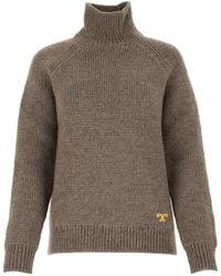 Tory Burch High Neck Sweater - Gray