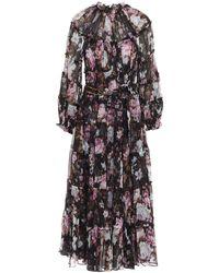 Zimmermann Charm Tiered Midi Dress - Multicolor