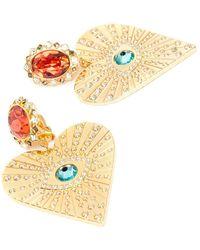 Swarovski Lucky Goddess Heart Clip Earrings - Metallic