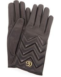 Gucci GG Marmont Gloves - Black
