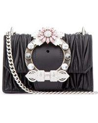 Miu Miu Lady Crossbody Bag - Black