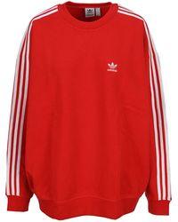 adidas Originals Adicolor Classics Oversized Sweatshirt - Red
