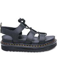 Dr. Martens Black Leather Sandals