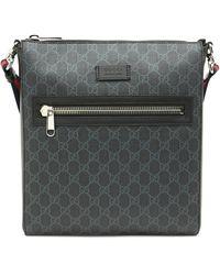 Gucci GG Supreme Web Strap Messenger Bag - Black