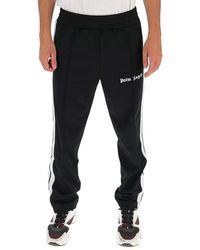 Palm Angels Logo Side Stripe Track Pants - Black