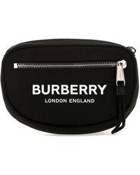 Burberry Small Logo Print Cannon Bum Bag - Black