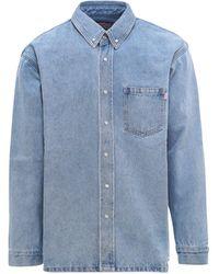 Martine Rose Yalta Denim Shirt - Blue