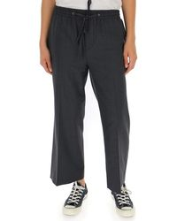 Miu Miu Straight Leg Cropped Pants - Gray