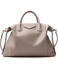 Givenchy Large Antigona Soft Bag - Gray