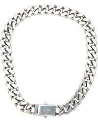 Saint Laurent Curb Chain Necklace - Metallic