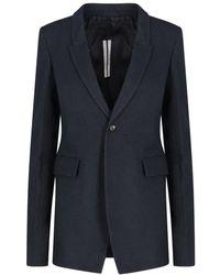 Rick Owens Tailored Blazer - Black