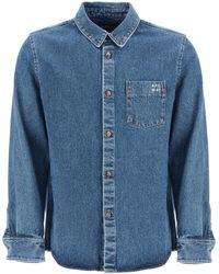 A.P.C. Victor Denim Overshirt - Blue
