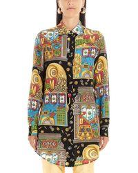 Moschino Colour Silk Shirt - Multicolour