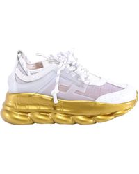 Versace Chain Reaction Trainers - Metallic