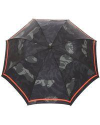 Alexander McQueen Fringe Pattern Umbrella - Gray