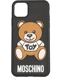 Moschino Iphone 11 Pro Max Cover Unisex - Black