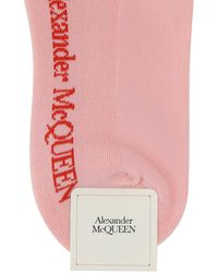 Alexander McQueen Pink Stretch Cotton Blend Socks