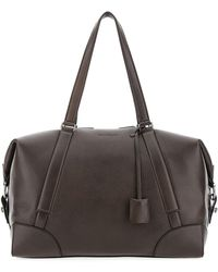 Ferragamo Embossed Logo Duffle Bag - Brown