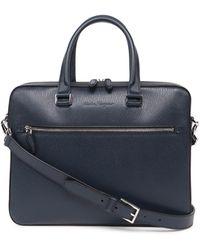 Ferragamo Logo Debossed Briefcase - Blue