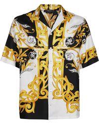 Versace Barocco Print Shirt - Yellow