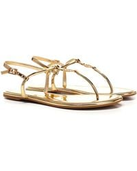 Tory Burch Emmy Metallic Thong Sandals