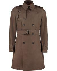 Alexander McQueen Cotton Trench Coat - Multicolour