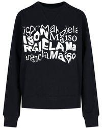 Maison Margiela Logo Print Sweatshirt - Black