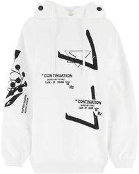 Prada White Cotton Oversize Sweatshirt Nd