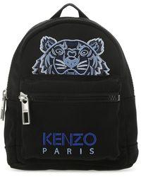 KENZO Kampus Tiger Embroidered Mini Backpack - Black