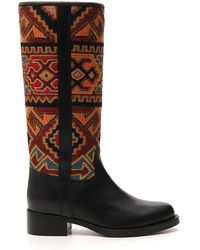 Etro Patterned Mid-calf Length Boots - Brown