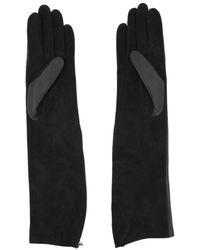 Lanvin Silk Gloves - Black