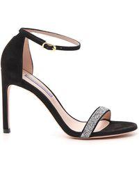 Stuart Weitzman Nudistsong Embellished Heels - Black