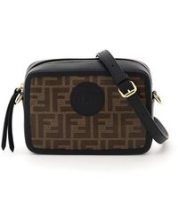 Fendi Mini Camera Case Crossbody Bag - Brown