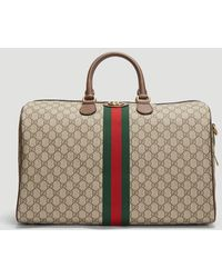 Gucci GG Supreme Ophidia Medium Carry-on Duffle Bag - Natural