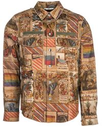 Valentino - Graphic Printed Snap-buttons Shirt - Lyst
