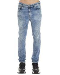 Buscemi Distressed Skinny Jeans - Blue