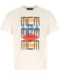 MCM Graphic Print Crewneck T-shirt - White