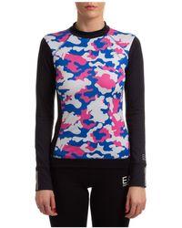 EA7 Ea7 Emporio Camouflage Printed Crewneck Sweatshirt - Multicolour