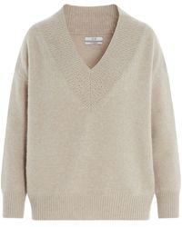 Co. V-neck Sweater - Natural