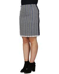 Lanvin Fringed Hem Mini Skirt - Multicolour