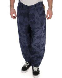 Uma Wang Patterned Balloon Pants - Blue