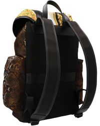 Versace Bondage Barocco Mosaic Print Backpack - Black