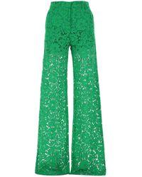Valentino Grass Green Lace Palazzo Pant Nd