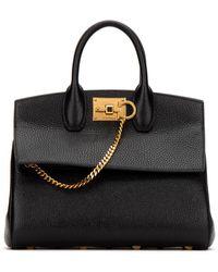 Ferragamo Studio Top Handle Bag - Black